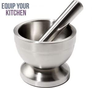 Juvale Stainless Steel Pestle and Mortar
