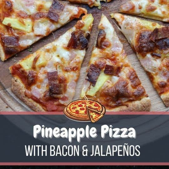 Pineapple Pizza With Bacon and Jalapeños-2